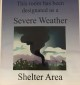 Tornado Shelter Sign Picture by Skye Scott